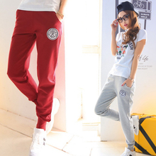 2016 spring and autumn new 100% cotton high quality fashion Candy colors 1 piece women sports pants brand girls pants (China (Mainland))