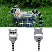 2019 เด็กกระต่ายออกแบบโครเชต์หมวกกางเกงชุดเด็ก Prop ช่างภาพสัตว์หมวกถักชุดทารกแรกเกิดการถ่ายภ...(China)