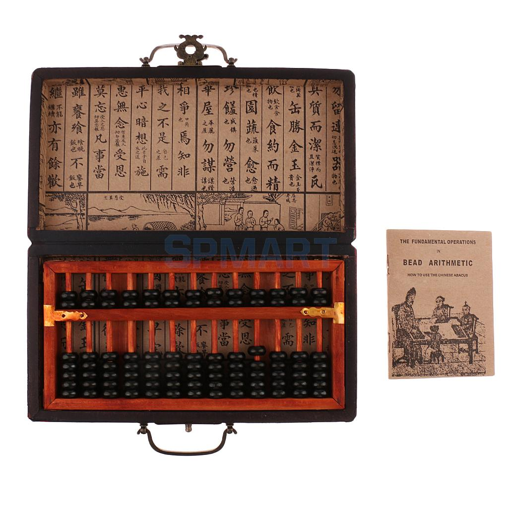 Vintage Wood Abacus Chinese Abacus Bead Arithmetic Math Calculator Counting