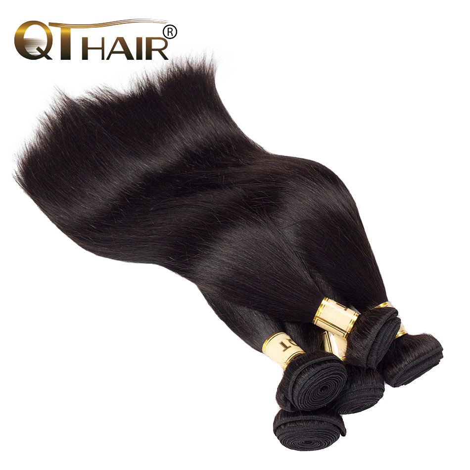 QThair European Non-remy Straight Weaves Natural Color 100% Human Hair Bundles 8inches to 28inches 1 piece(China (Mainland))