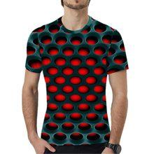 S-5XL Plus Size Roupas Masculinas Camisetas de Manga Curta O Pescoço Solto Tamanho Grande Tops Tees 2019 Verão 3D Dot Imprimir Solto homens T-Shirt(China)