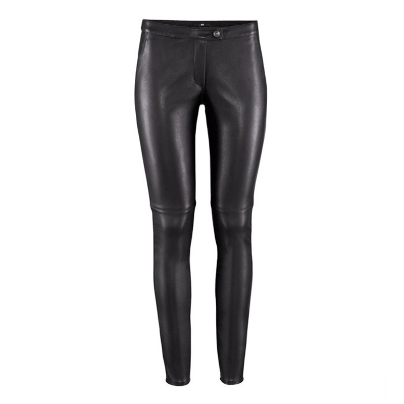 Perfect White Leather Jogger Pants Women