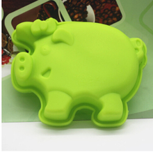 Set Of 6 pcs The Little Pigs Silicone Mold For Kitchen Accessories Or Cake Decorating Tools