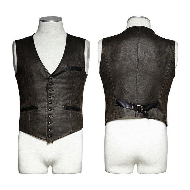 Vampire Men's stripe vest steampunk