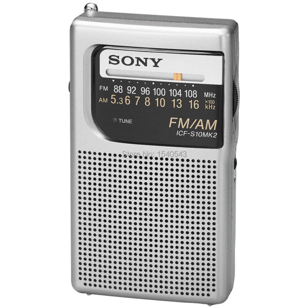 Portable New For SONY ICF-S10MK2 Portable Pocket AM FM Radio free ship(China (Mainland))