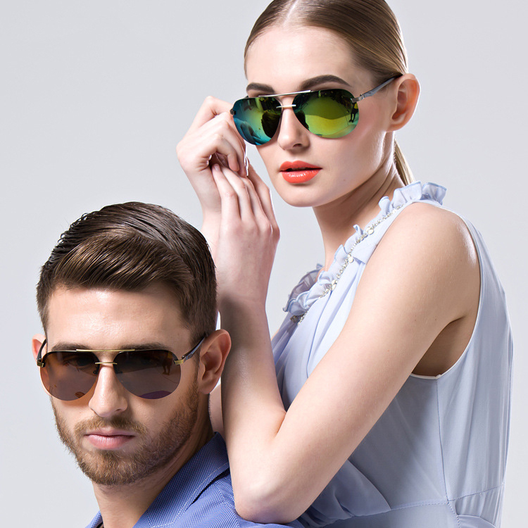 Are Frameless Glasses In Style 2015 : Aliexpress.com : Buy Color Film Polarized Women Huge ...