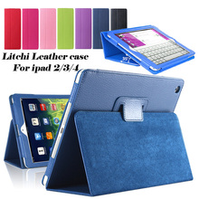 For apple ipad 2 3 4 Magnetic Open Close Screen Wake up Sleep Flip Leather case For new ipad3 ipad4 PU Smart Stand Holder Cover