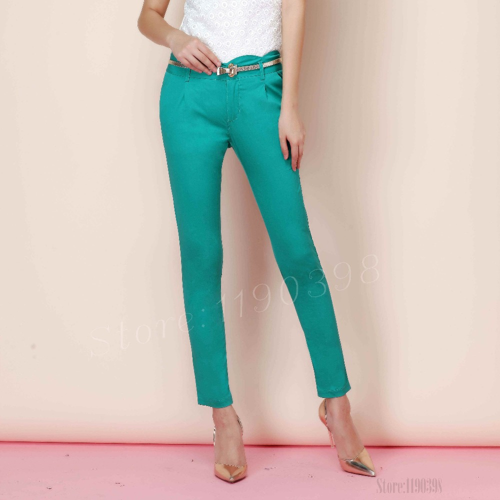 New women's pants Fashion Sexy Candy Color Pencil Pants ...