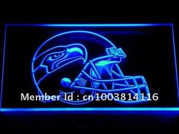 255-b Seattle Seahawks Helmet Bar LED Neon Light Sign