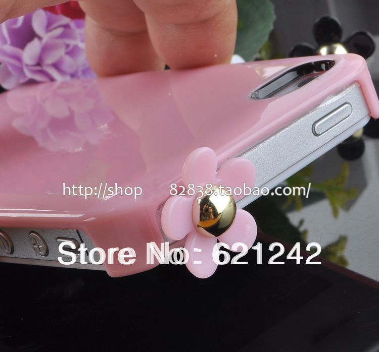 TOP SALE Promotion Flower Earphone Jack Plug For women Diameter 3.5MM MP3 Plug MP4 Stock Wholesale XZ060 20pcs/lot Free Shipping(China (Mainland))