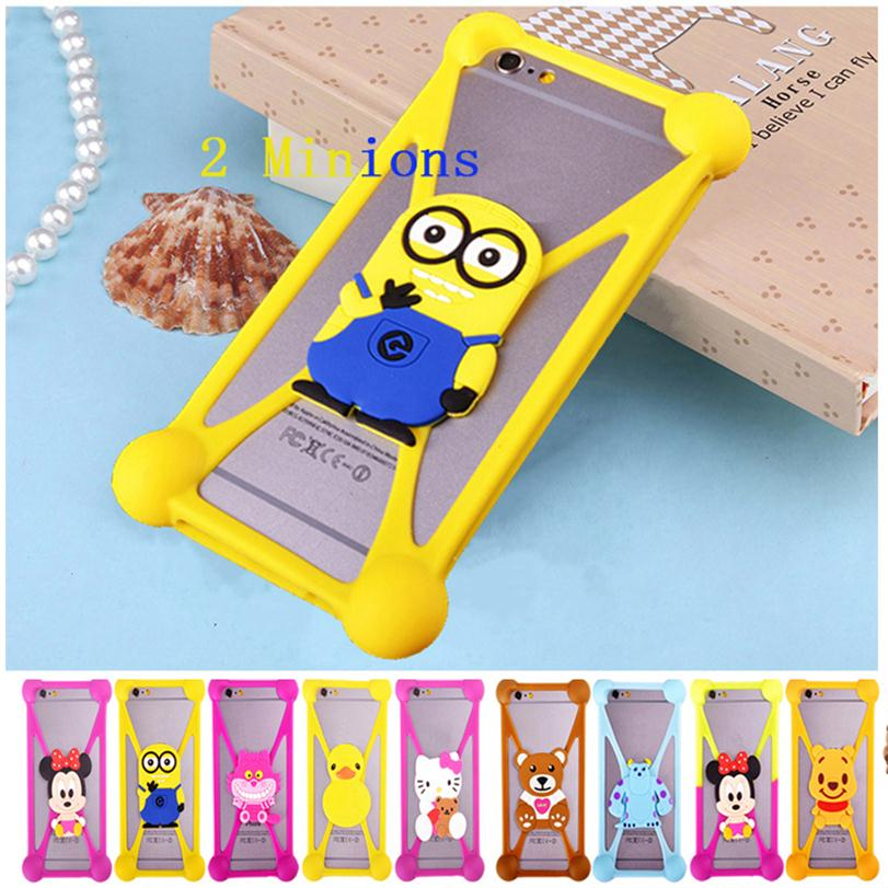 Cute Cartoon Silicone Universal Cell Phone Holster Cases Fundas Blackview BV2000 BV5000 Ultra A6 Case Silicon coque Cover  -  Big Umbrella Co., Ltd Store store