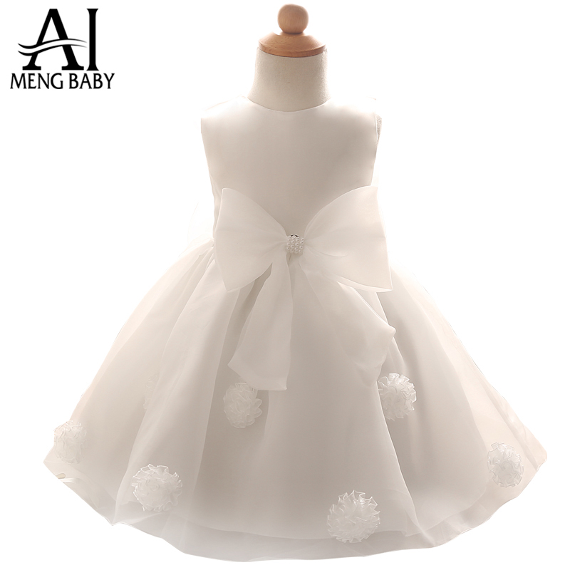Baby Girls Wedding Dresses 2016 Summer Infant Princess Girl 1 Year Birthday Party Dress Baby Christening Gown Ceremonies Clothes(China (Mainland))