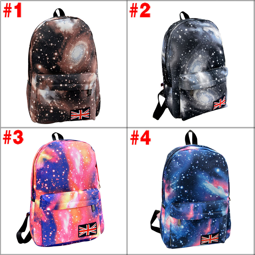 Fashion Unisex Stars Universe Space Printing Backpack School Book Backpacks British-flag Shoulder Bag BS88<br><br>Aliexpress