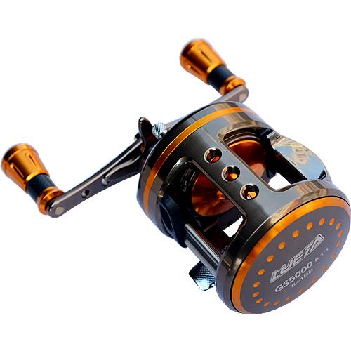 9bb 5 1 1 gs5000 6000 full metal casting drum reel boat for Reel fishing game