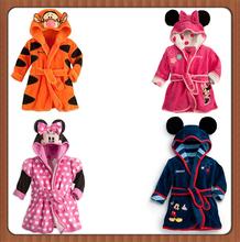 2014 free shipping new Baby Girls Baby Boys cartoon tiger romper Pajamas Bath robes kids soft Bath towel(China (Mainland))