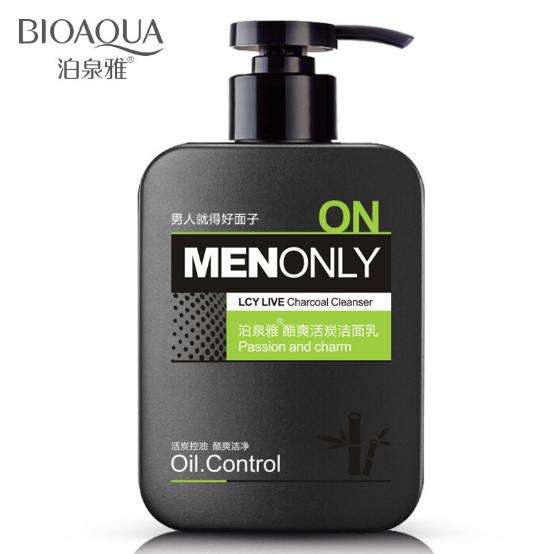 BioaQua 168g Men Oil-Control Deep Cleansing Scrub Skin Care Cleanser Whitening Acne Blackhead Face Care Exfoliating Cleanser(China (Mainland))