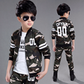 2016 Fashion Baby Boy Clothing Set Camouflage Color Kid Clothes Suir O neck Coat Pants Military