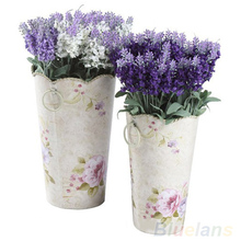 10 Heads Artificial Lavender Silk Flower Bouquet Wedding Home Party Decor for Display