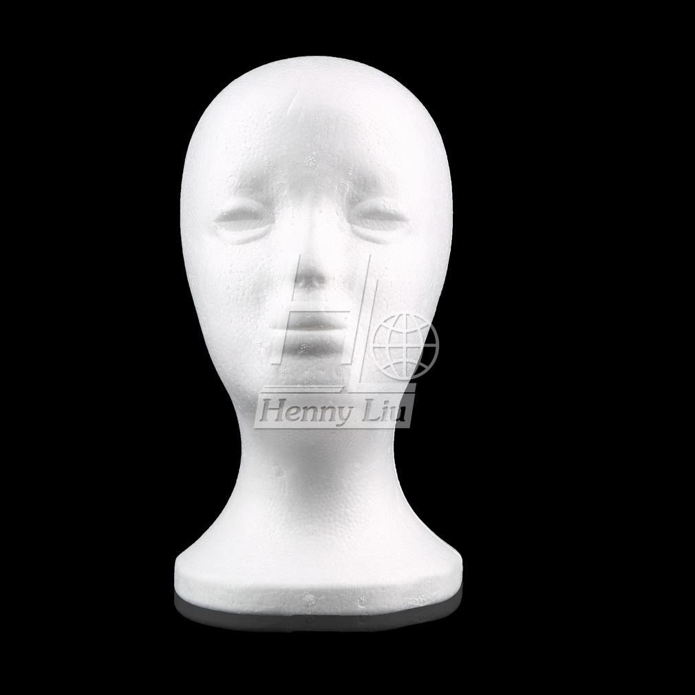 Female Styrofoam Foam Mannequin Manikin Head Model Wig hair Glasses Hat Jewelry Display Hot Selling(China (Mainland))