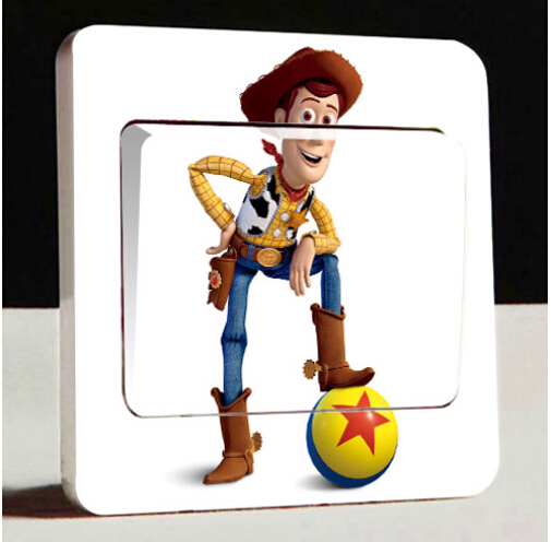 Toy Story Wall Light : Free-home-decorative-wall-stickers-Toy-Story-Buzz-Lightyear-Anka-switch-stickers-Children-loved ...