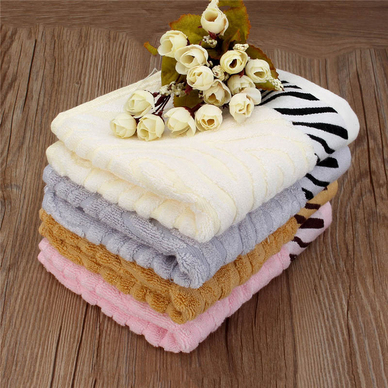 32.5x74cm Tiger Stripes Bamboo Fiber Towel Soft Home Use Fresh Thicken Fashion Texture Towels Adult Bath Towel(China (Mainland))