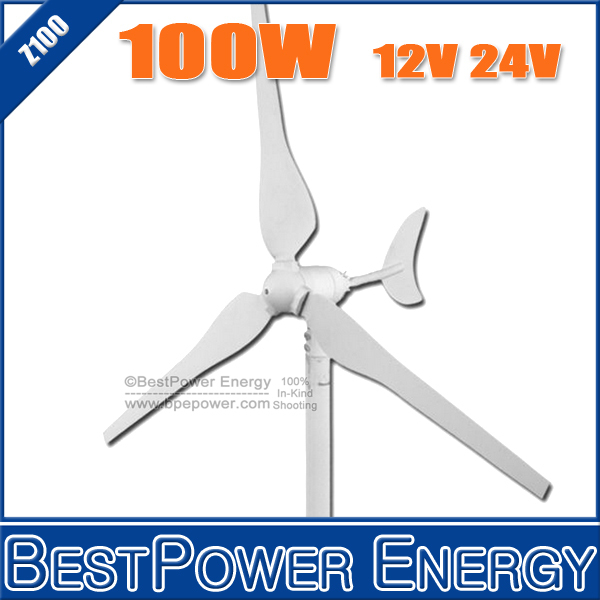 New!! Small Wind Turbine Generator 3 Blades 100W 12V 24V Wind Power Generator for Home Wind System(China (Mainland))