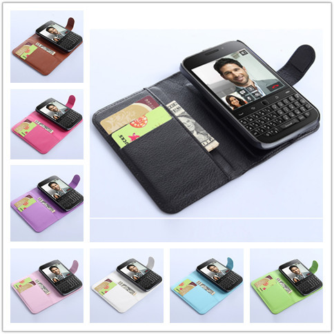 Luxury Wallet Leather Case Cover for Blackberry Classic Q20 with Card Holder Stand Flip Leather Mobile Phone Bag Cases for Q20(China (Mainland))