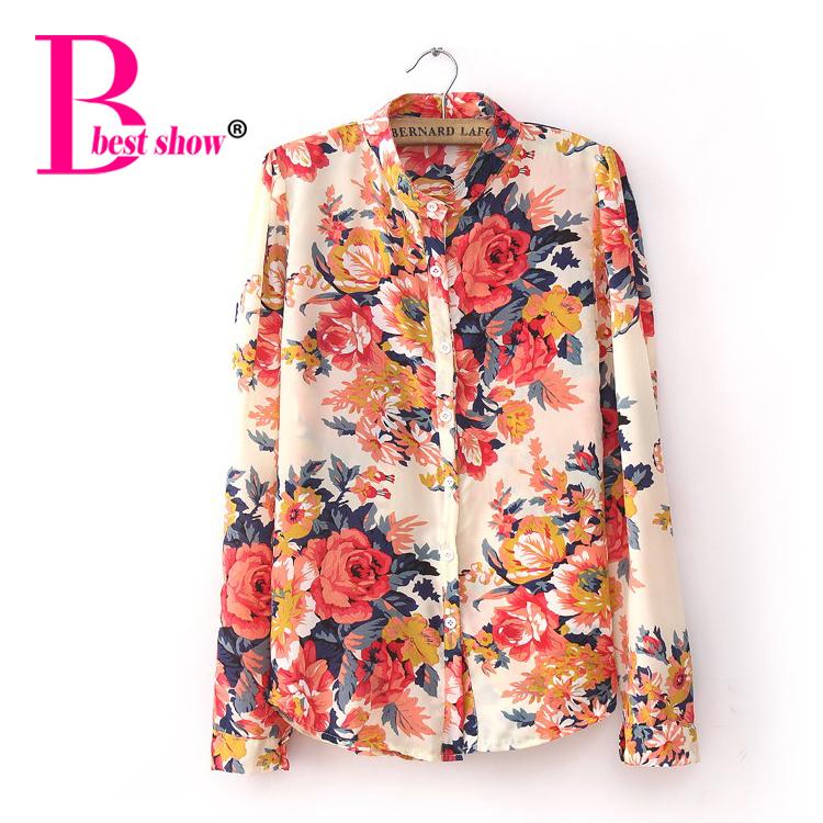 Платье Блузка В Цветочный Принт