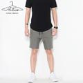 Men Casual Shorts 2017New Arrival ArTees Brand Summer Slim Fit Print Cotton Knee Length Shorts Plus