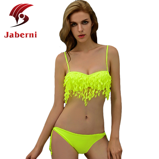 Неон купальники кисточкой бахрома росту бразильский Biquini шик бренд женщин мода пляж комплект бикини дамы сексуальный повязку купальник
