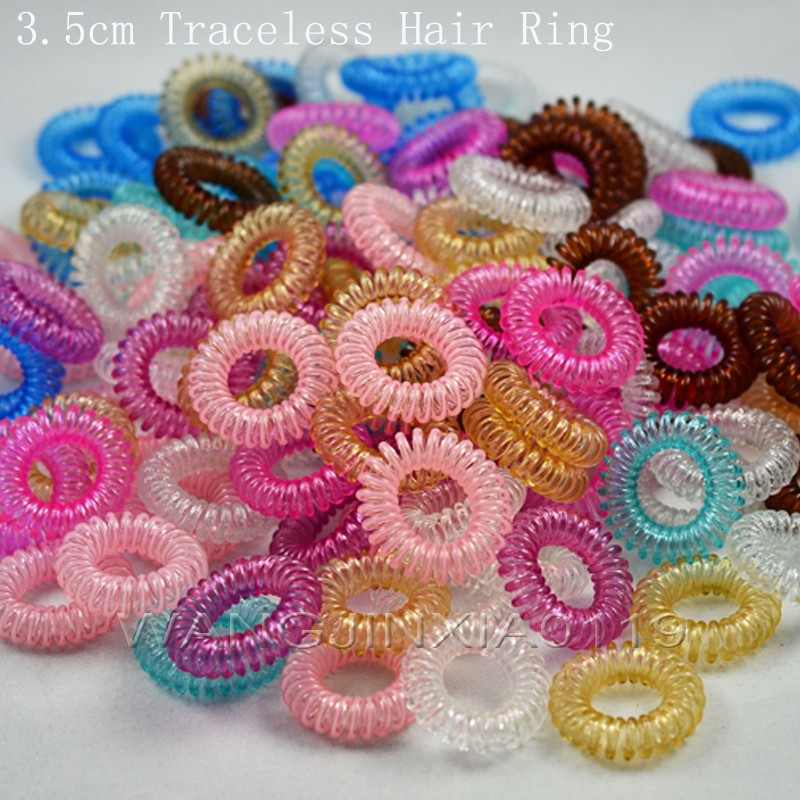 Accessories for woman 3.5CM  hair accessories Telephone Wire Line Cord  hair rope Traceless Hair ring for girls hair gum 31/56