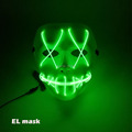 Halloween ghost Slit mouth light up glowing EL wire Cute mask Fashion Cosplay mask Costume mask