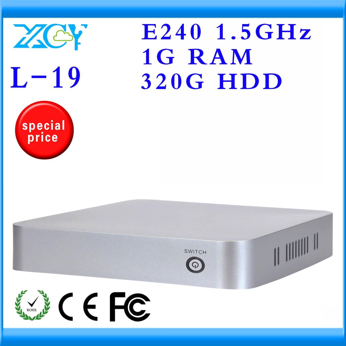XCY Brand htpc computer mini pc x86 hdmi mini pc AMD E240 single core 1.5GHZ 320G HDD with HDMI/VGA Support wifi hd movie PC(China (Mainland))