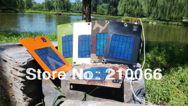 solar charger 3W solar flexible foldable waterproof power panels USB recharger mobile iphone outdoor foldable free shipping