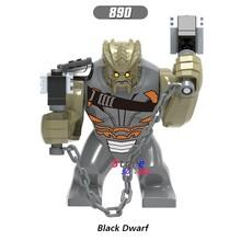 Único Infinito Guerra Anão Preto Super Hero Avengers Hulk 7 CM Thanos Abater Obsidiana figura modelo building blocks brinquedos para crianças(China)
