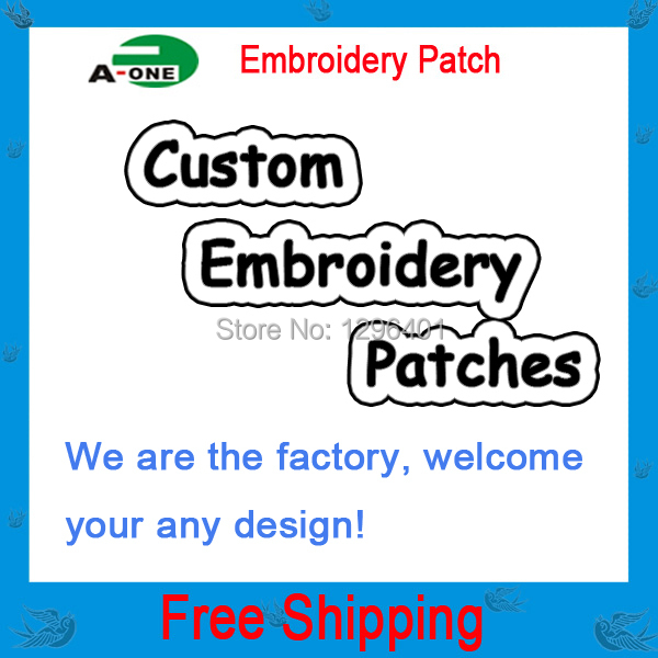 Гаджет  Free shipping Custom Computer Embroidery Patch & Badge garment accessories made in China None Дом и Сад
