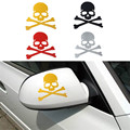 Dependable Fashion Skull Design 3D Decoration Sticker For Car Side Mirror Rearview Ma18