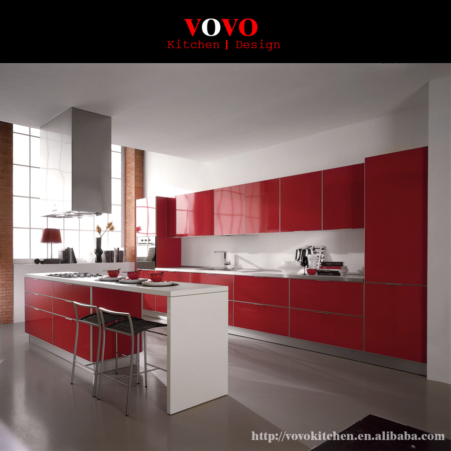 Buy Express Modular Kitchen Cabinets In High Gloss Finish: Popular Kitchen Cabinets Red-Buy Cheap Kitchen Cabinets