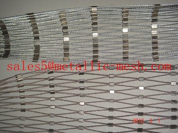 ferruled s.s rope nets/ stainless steel rope mesh fencing