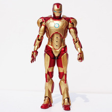 Buy Avengers Super Hero Iron Man Tony Stark Action Figure Iron Man 3 Mark 42 PVC Classic Toy Collection Model for $15.02 in AliExpress store