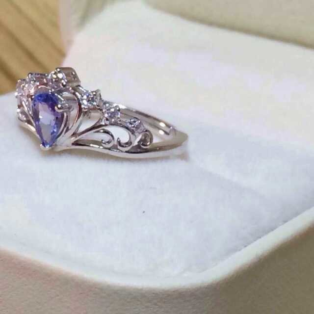 Classic crown shape blue color natural tanzanite rings with 925 sterling silver natural gem stone ring for women party jewelry(China (Mainland))