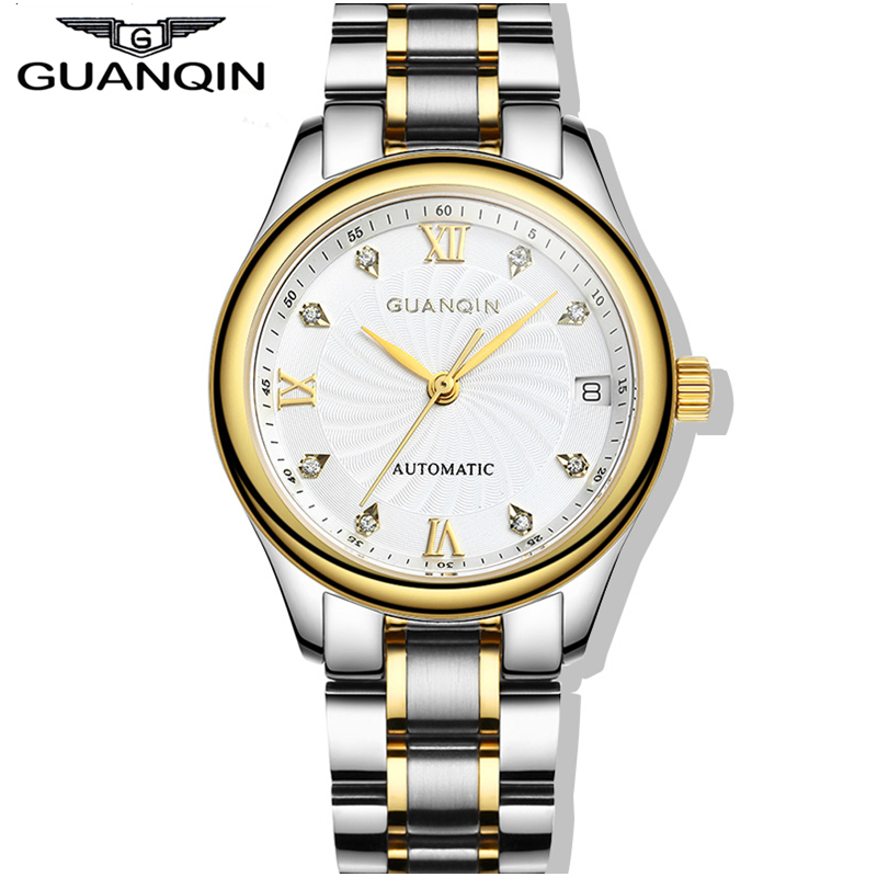 origianl guanqin top brand luxury automatic mechanical fashion watches women waterproof sapphire. Black Bedroom Furniture Sets. Home Design Ideas