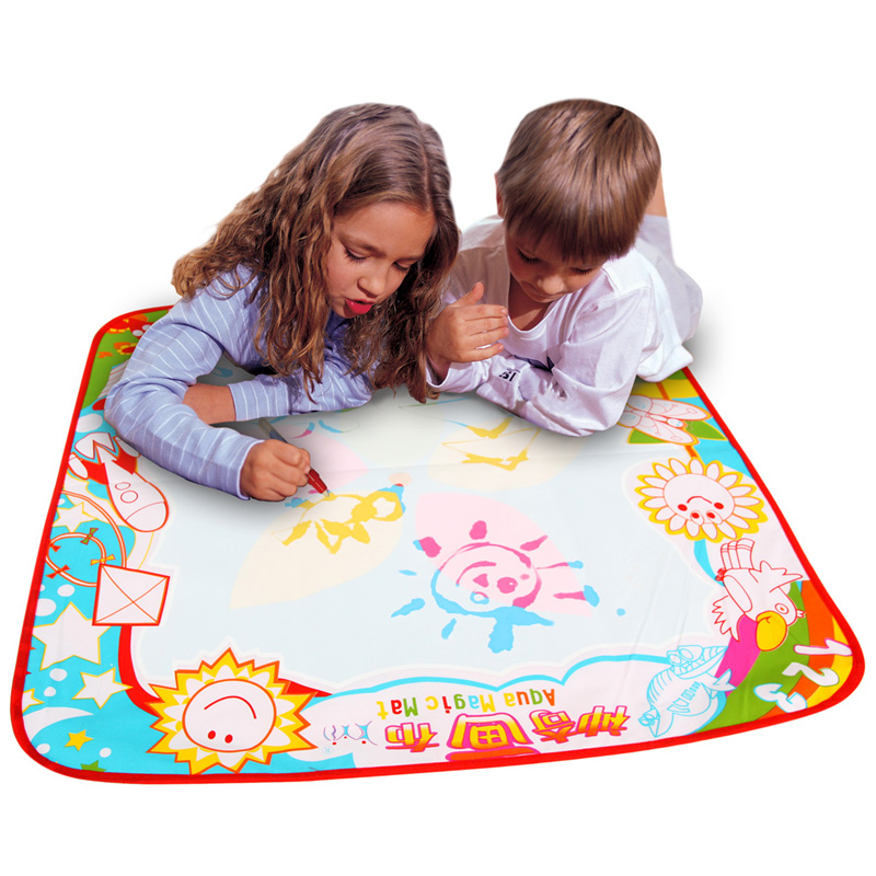 Free Shipping 70*70cm Eco-friendly Colorful Children Magic Painting Canvas Water Stationery Doodle Mat A20(China (Mainland))