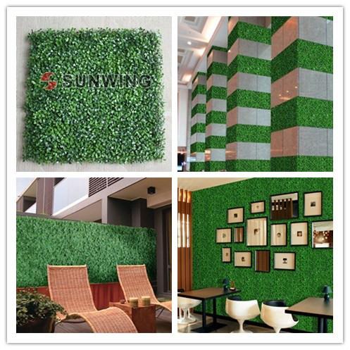 Artificial boxwood hedges 12pcs 50x50cm decorative leaf for Artificial grass decoration crafts