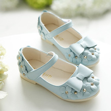 J.G Chen 2016 Spring Hot Sale Floral Girls Shoes Princess Single Shoes For Girl Kids Children Fashion PU Sneakers With Flowers(China (Mainland))