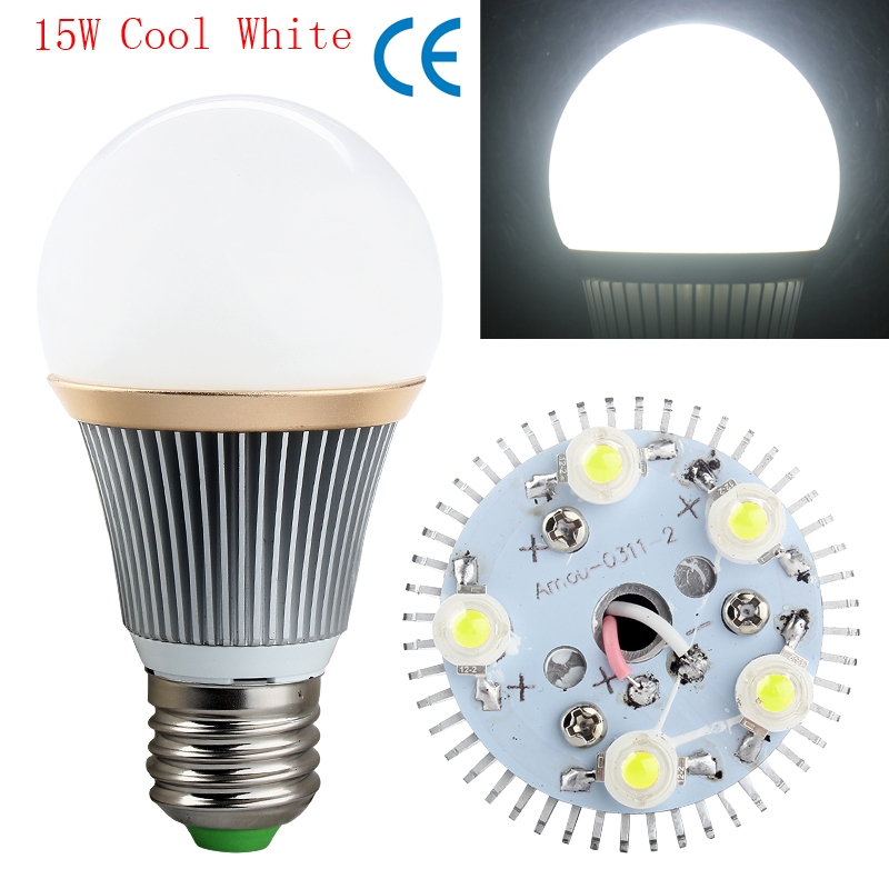E27 Energy Saving 15W 5x3W LED Bulb Spot Light Lamp Cool White AC85-265V long life - Cheap Gadagets Mall store