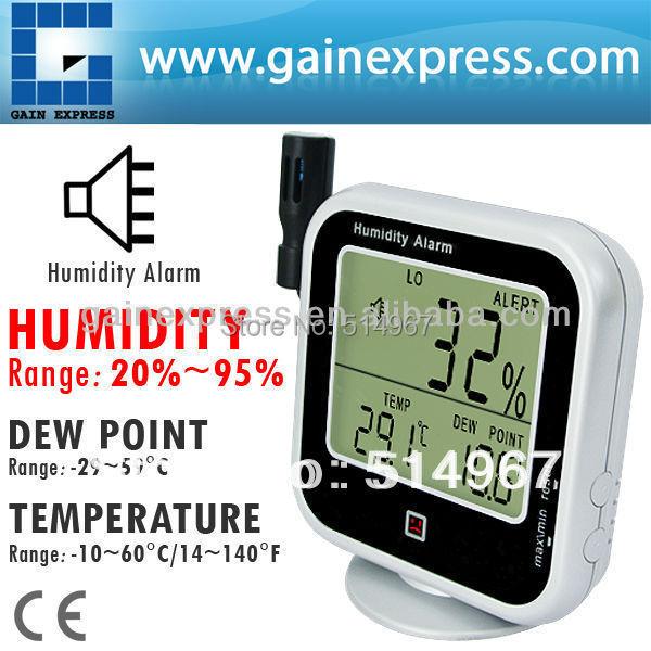 Digital thermo hygrometer indoor outdoor temperature for Indoor design temperature