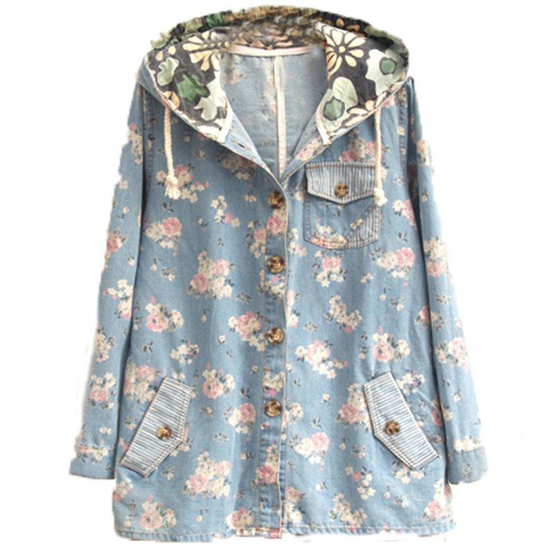 Весна осень женщины джинсы куртка деним балахон пальто свободного покроя длинный рукав вкладыш винтажный одежда casaco feminino