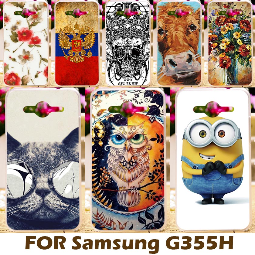 DIY Painting design Hard Plastic Case For Samsung Galaxy Core II 2 G355M 4.5 inch Cell Phone Cover Para Protective Sleeve Shell(China (Mainland))