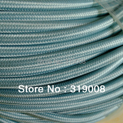 3 wire 0.75  textile cable colored woven wire 50 meters/lot by DHL FREE Shipping